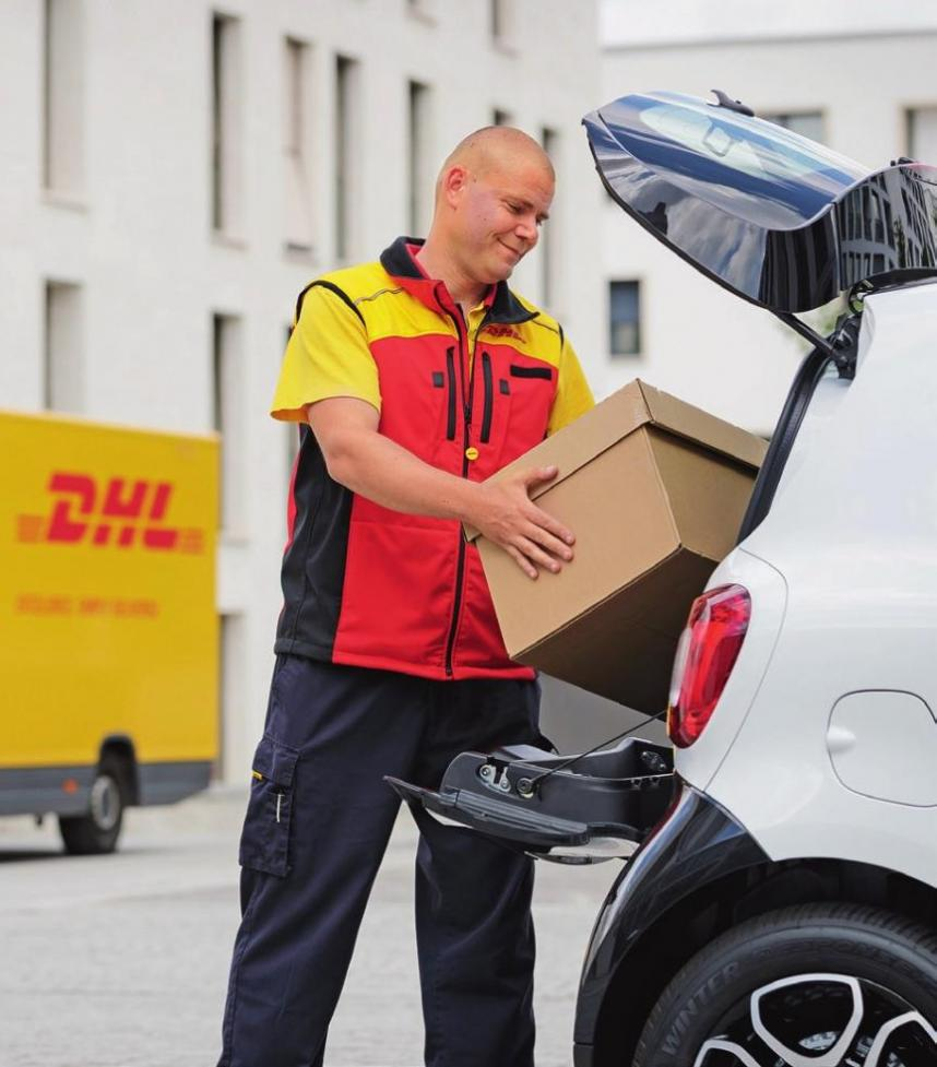 In Berlin, DHL teamed up with VW and online retailers to test delivery in car boots. The testers provided a time frame during which the parcel carrier was able to find the car at the specified address using GPS.