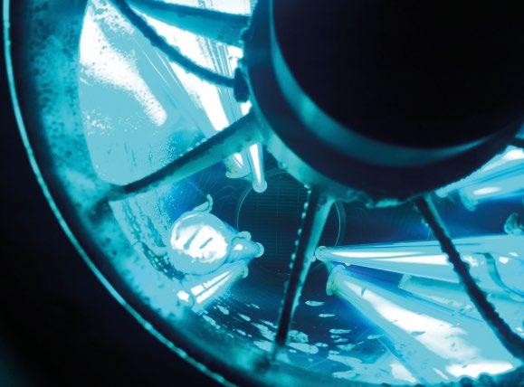 Die Synergie zwischen Vorschaltelektronik und den UVC-Spezialröhren sorgt dafür, dass die Entkeimung auch bei Temperaturen unter 0 °C ihre optimale Wirkung entfaltet.© sterilAir AG