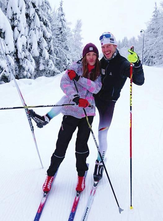 Schneevergnügen mit Ehefrau Janice. Foto: Steffen Lehmker