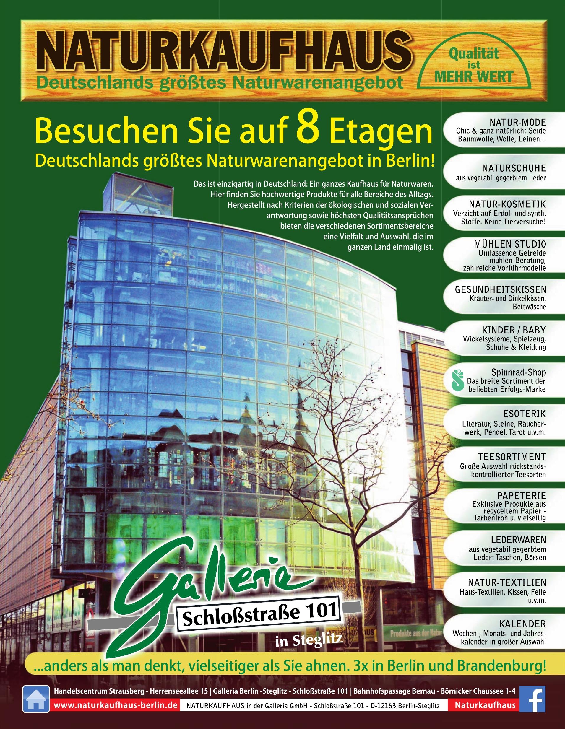 NATURKAUFHAUS in der Galleria GmbH