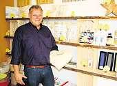 Andreas Johnsen setzt auf ökologische Baustoffe Fotos: fp