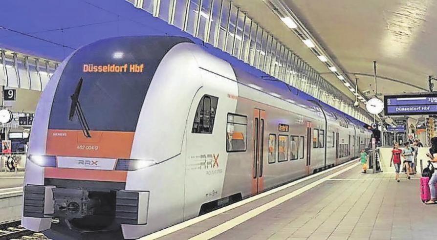So soll der Rhein-Ruhr-Express einmal aussehen. Siemens bekam den Auftrag, 82 neue Regionalzüge dafür zu bauen. Ab etwa 2030 soll der Rhein-Ruhr-Express (RRX) im 15-Minuten-Takt zwischen Köln, Düsseldorf und Dortmund fahren. Foto: dpa
