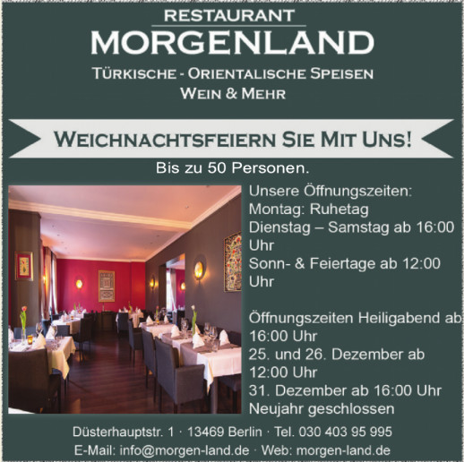 Restaurant Morgenland
