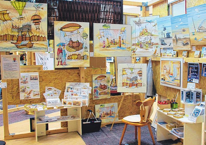 Die Kreativen der Künstlergemeinschaft Ostholstein stellen im LUV Center ihre Werke aus. FOTOS: LUV CENTER