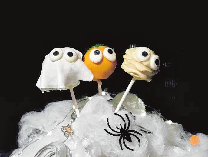 Cake-Pops für die Halloween-Party