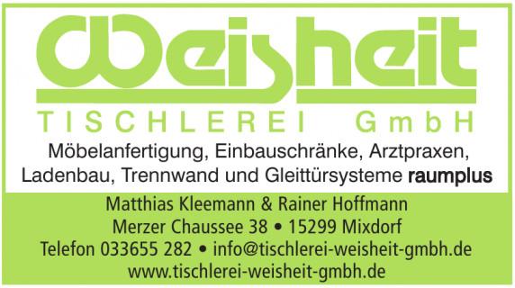 Tischlerei Weisheit GmbH