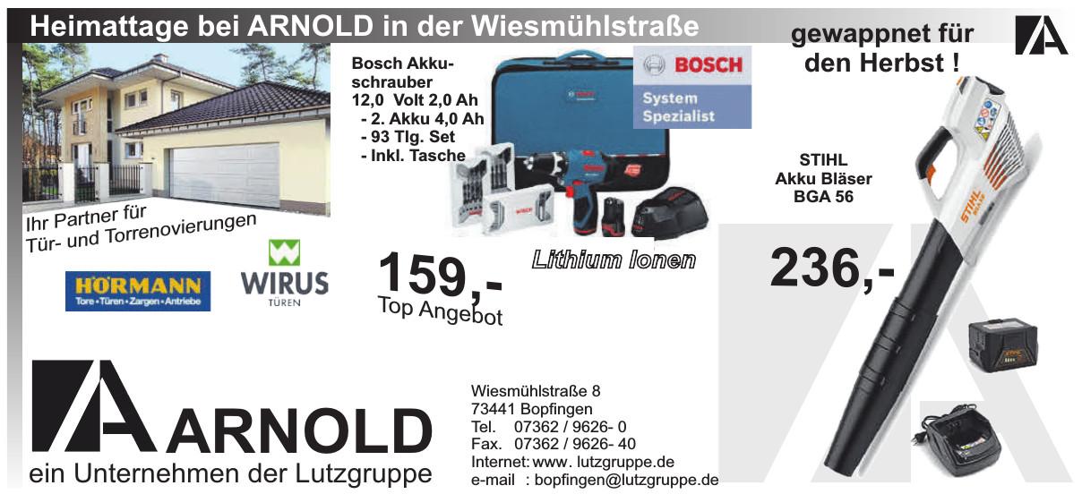 Arnold ein Unternehmen der Luztgruppe