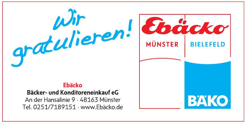 Ebäcko Bäcker- und Konditoren-Einkauf eG