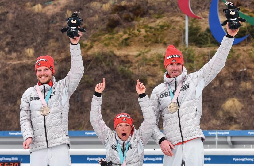 Ein Traum ging in Erfüllung: Bronze in der Mixed-Langlauf-Staffel bei den Paralympics in Südkorea. Foto: Steffen Lehmker