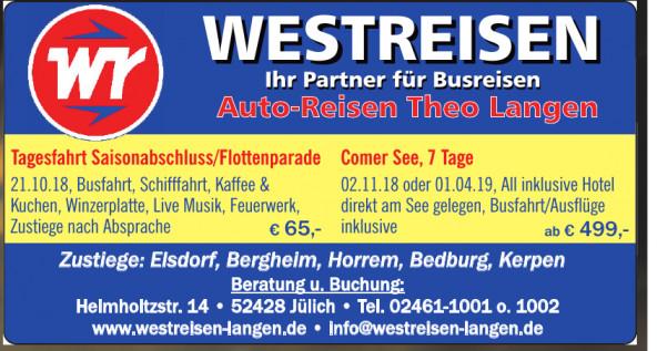 Westreisen Auto-Reisen Theo Langen