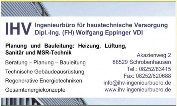 Ingenieurbüro für haustechnische Versorgung Dipl.-Ing. (FH) Wolfgang Eppinger VDI