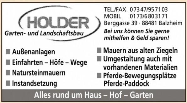 Holder Garten- und Landschaftsbau
