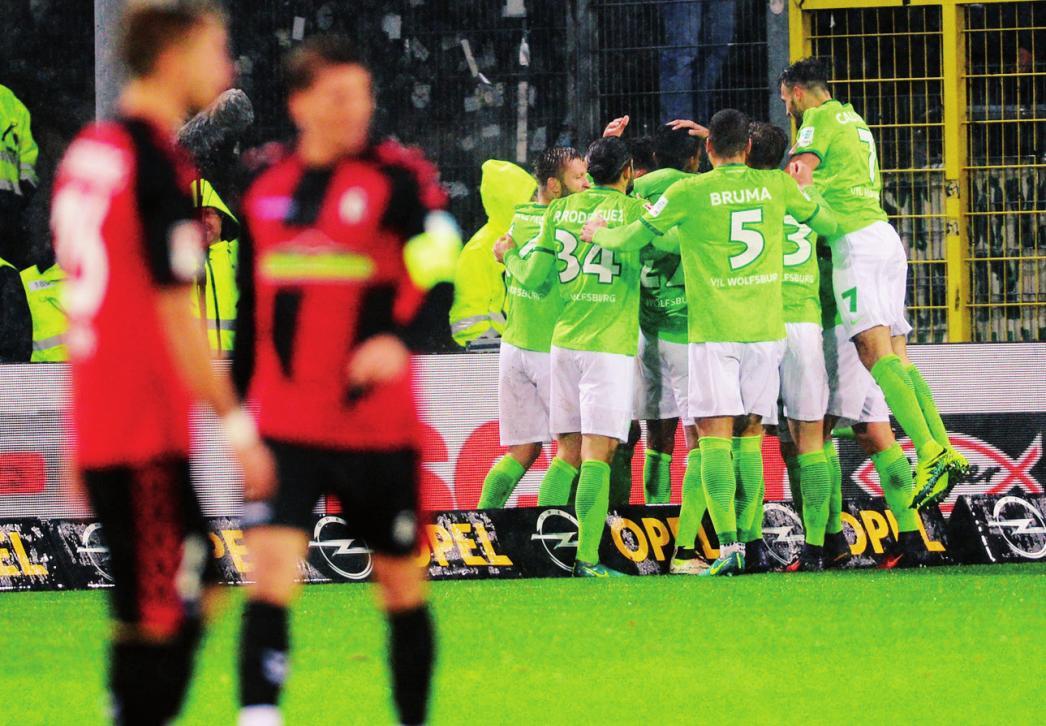 Wo der VfL besonders gern jubelt: In Freiburg verloren die Wolfsburger zuletzt 2011.