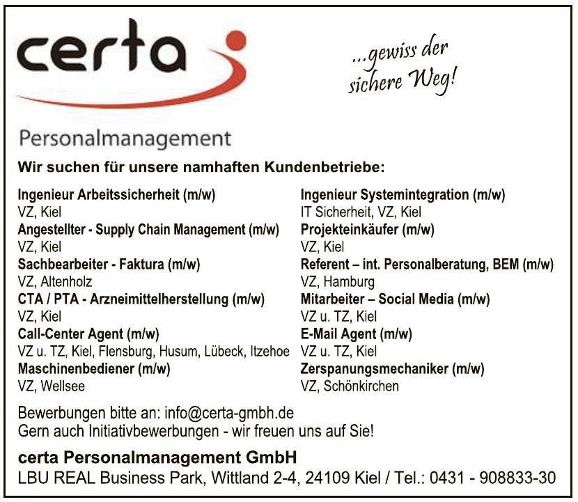 certa Personalmanagement GmbH