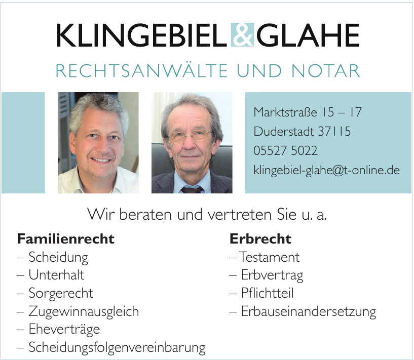 Axel Klingebiel & Herwarth Glahe