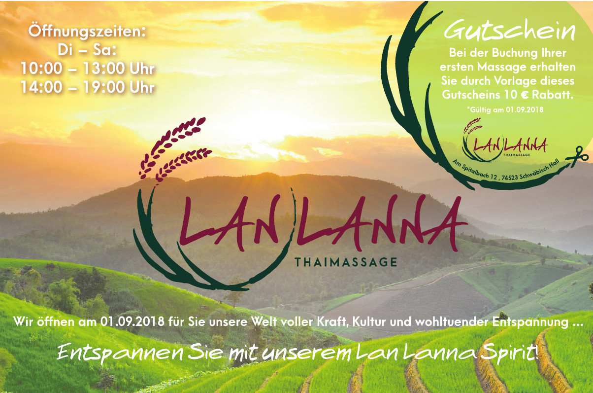 Thai Massage Lan Lanna Schwäbisch Hall Mit Eröffnungsrabatten
