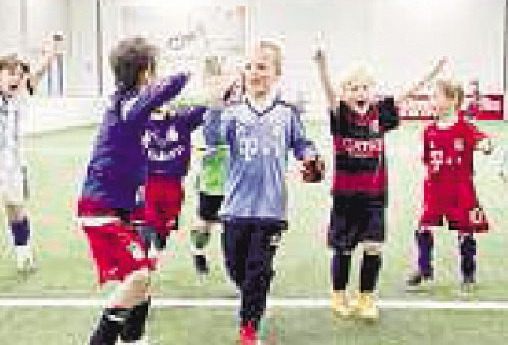 Im Torneum können Kinder auch im Winter Fußball spielen Foto: Gubby Design