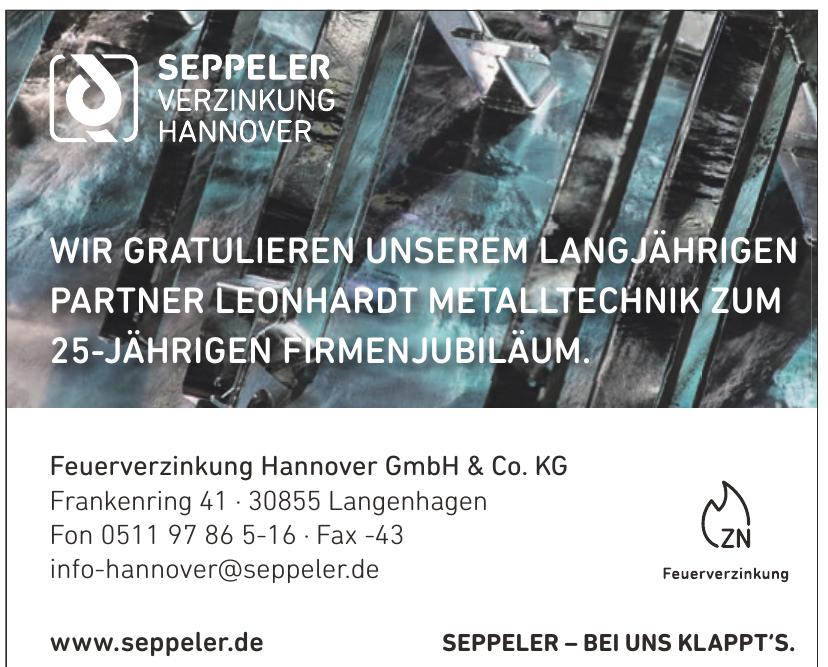 Feuerverzinkung Hannover GmbH & Co. KG