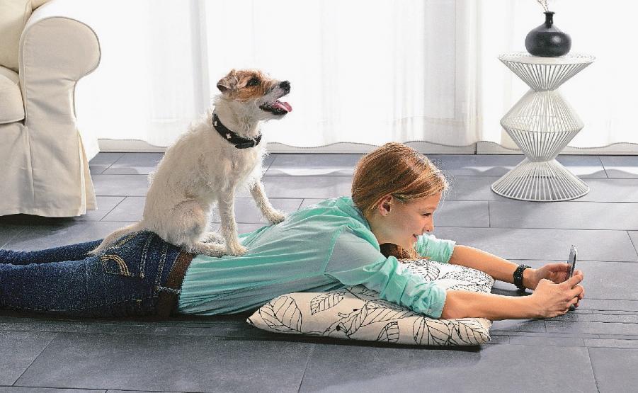 Fliesen sind der ideale Belag für eine Fußbodenheizung. Foto: Schmidt-Rudersdorf