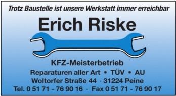 Erich Riske - KFZ-Meisterbetrieb