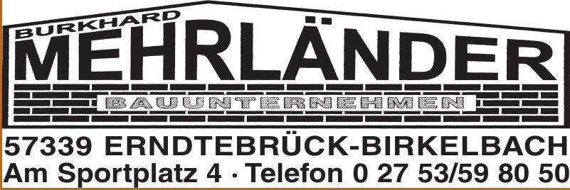 Burkhard Mehrländer