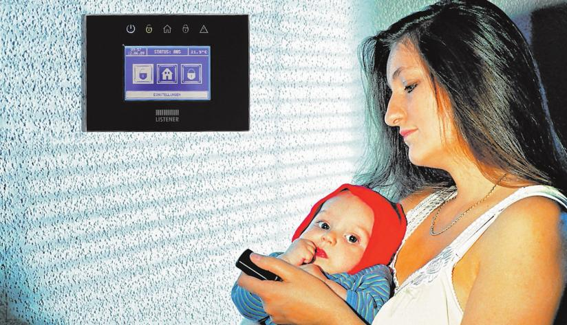 Moderne Einbruchmeldeanlagen – für ein Zuhause, in dem man sich und seine Liebsten in Sicherheit weiß.FOTO: EPR/MICYCLE/LISTENER SICHERHEITSSYSTEME