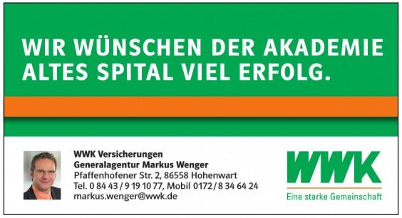 WWK Versicherungen Markus Wenger