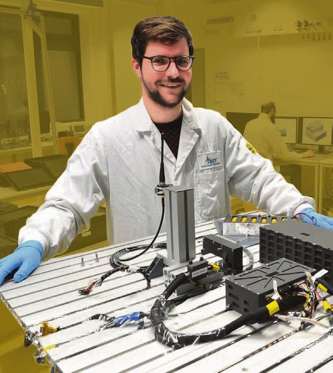 Voller Schub:Tom Segert machte sich als Konstrukteur von Kleinsatelliten schnell einen Namen