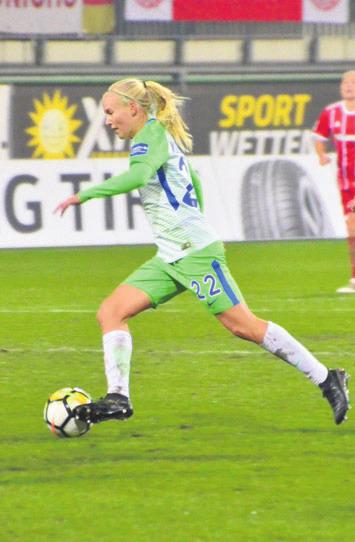 Pernille Harder traf gleich vier mal gegen Köln. Archivfoto: ph
