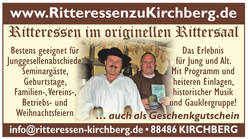 Ritteressen im originellen Rittersaal