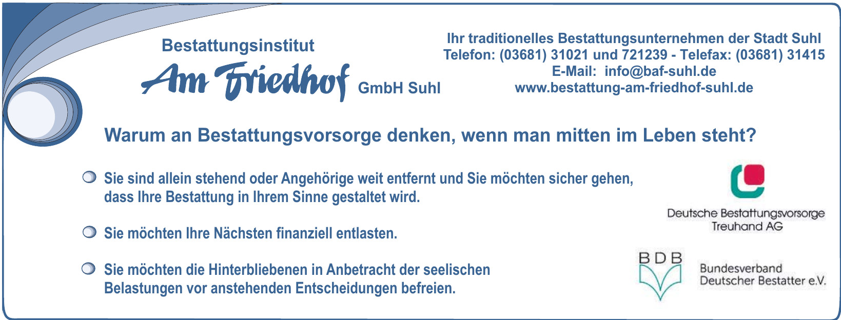 Bestattungsinstitut Am Friehof GmbH Suhl