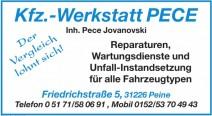Kfz.-Werkstatt Pece