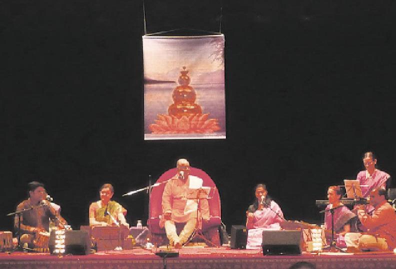 Dr. Shri Balaji També und seine Gruppe musizieren am 2. September im Marstall Foto: Sanlutan
