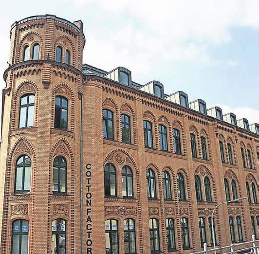 Das Gebäude der Zwirnerei Hebebrand gehört zu den bedeutendsten Bauten der Textilindustrie in Deutschland.Foto: Tanja Heil