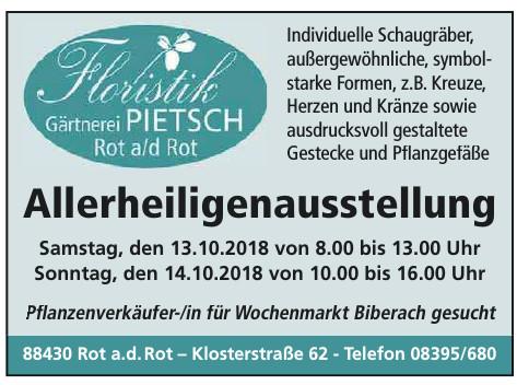 Floristik Gärtnerei Pietsch Rot a/d Rot