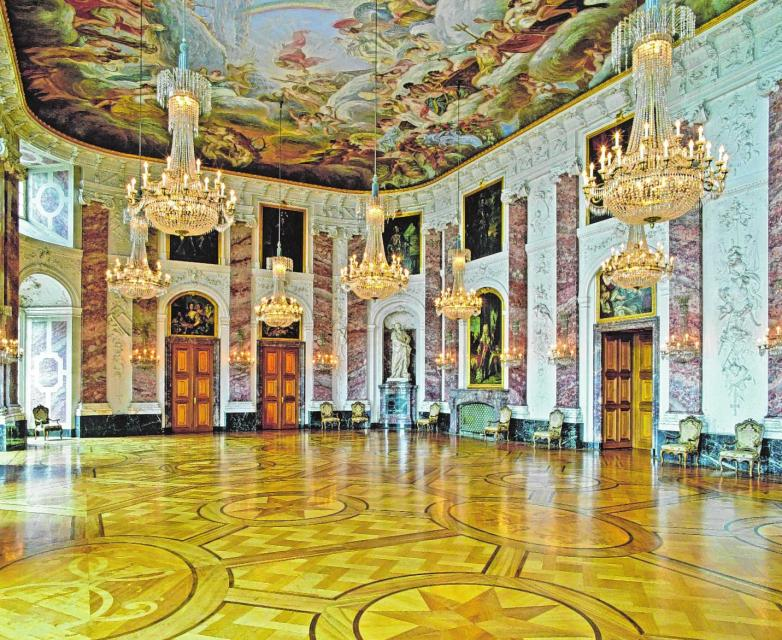 In fürstlicher Kulisse finden standesamtliche Trauungen im Barockschloss Mannheim statt.BILD: STAATLICHE SCHLÖSSER UND GÄRTEN BADEN-WÜRTTEMBERG