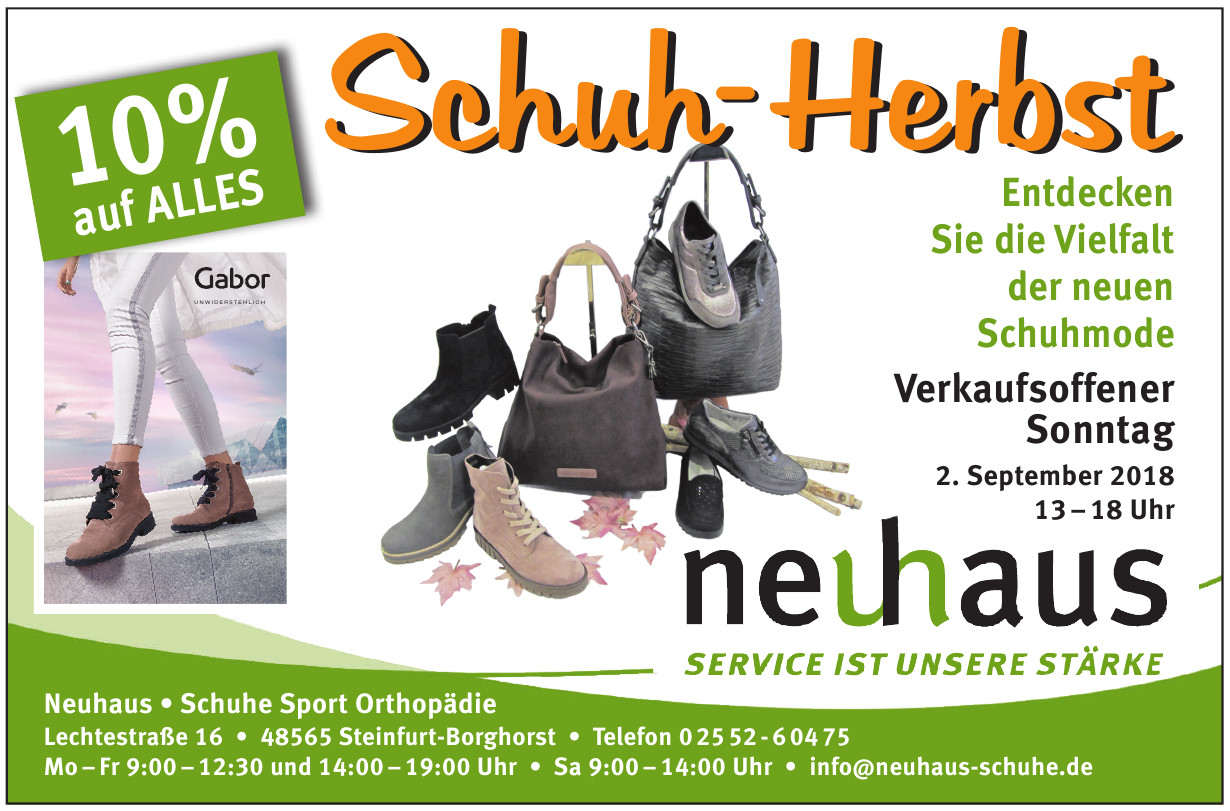 Neuhaus Schuhe Sport Orthopädie