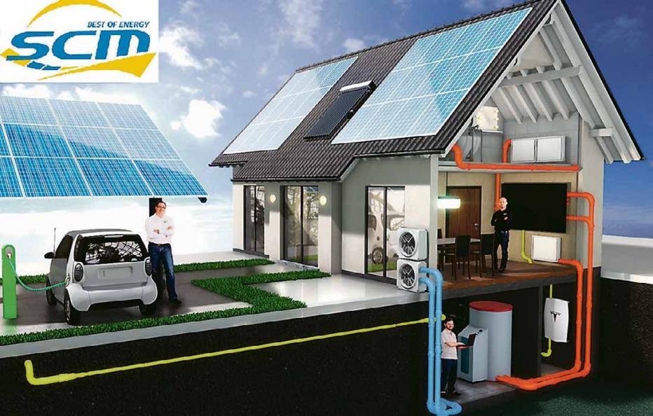 Leistungsspektrum der SCM Energy GmbH.