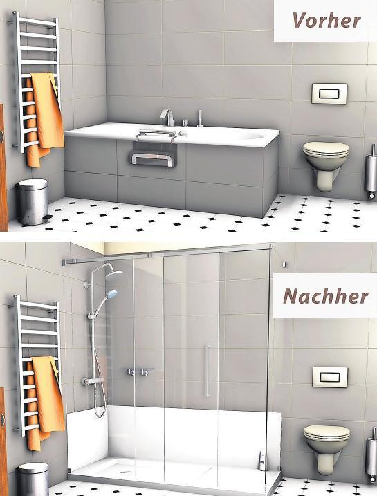 Nur acht Stunden benötigen die BADbarrierefrei-Profis, um aus der Badewanne eine begehbare Dusche zu machen. Foto: badbarrierefrei.de