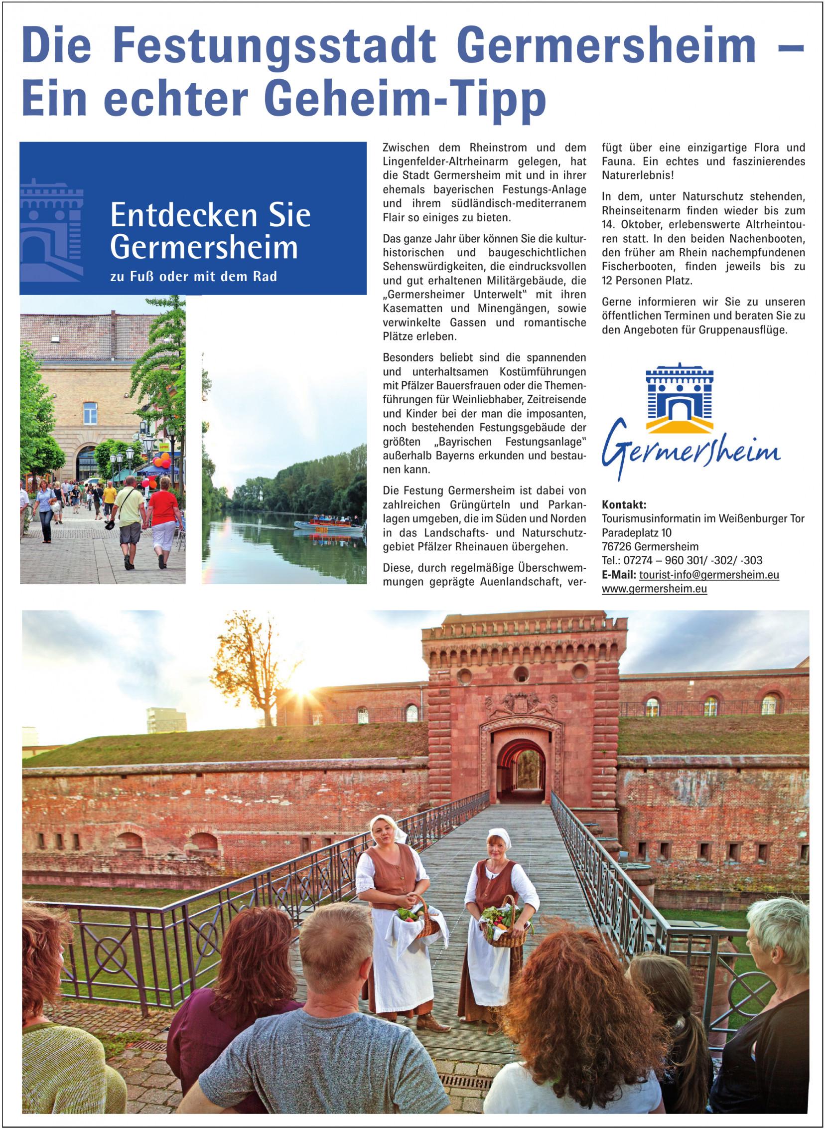 Tourismusinformatin im Weißenburger Tor