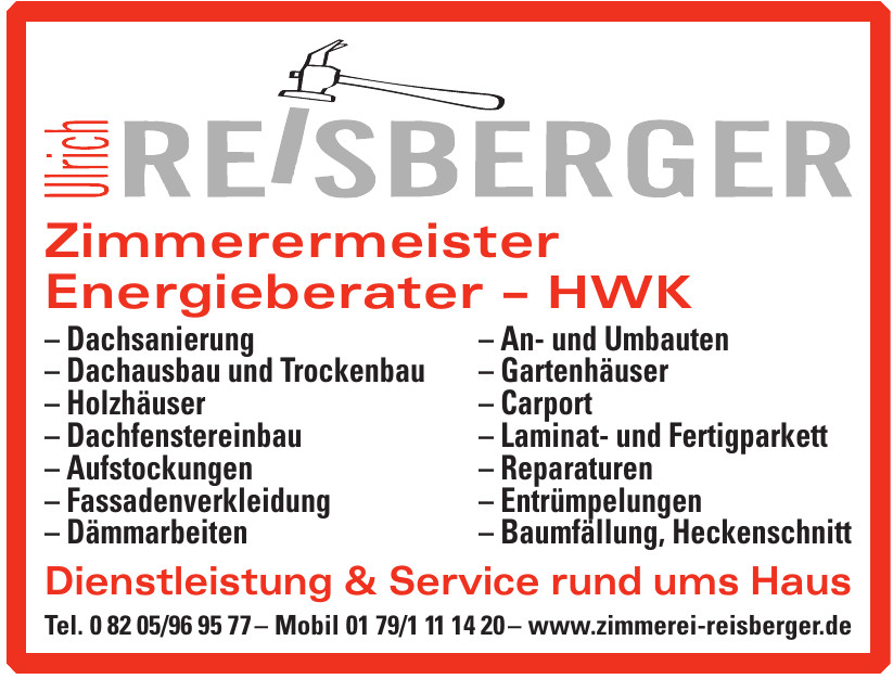 Ulrich Reisberger Zimmerermeister Energieberater – HWK