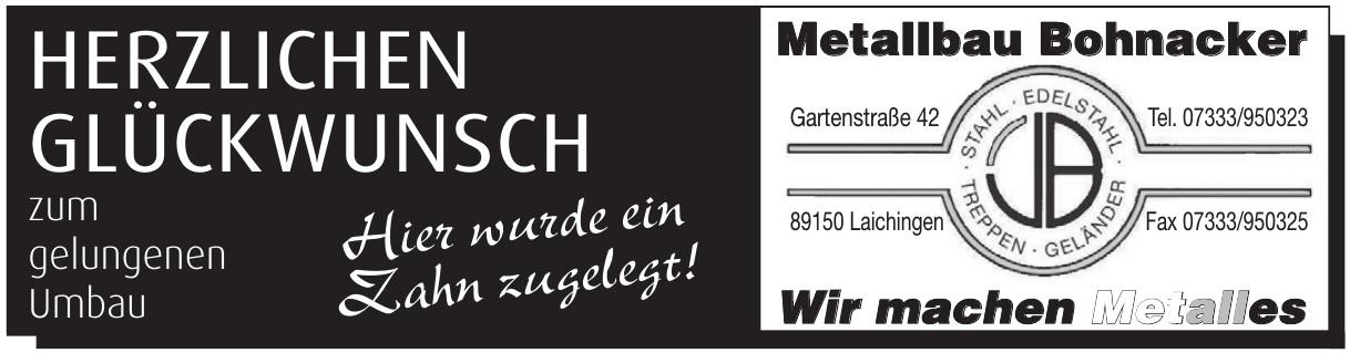 Metalbau Bohnacker