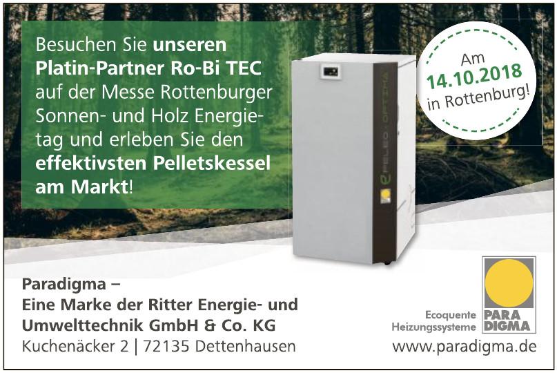 Paradigma - Eine Marke der Ritter Energie- und Umwelttechnik GmbH & Co. KG