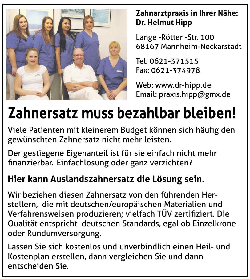 Dr. Helmut Hipp