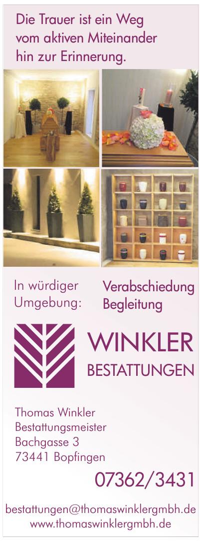 Winkler Bestattungen