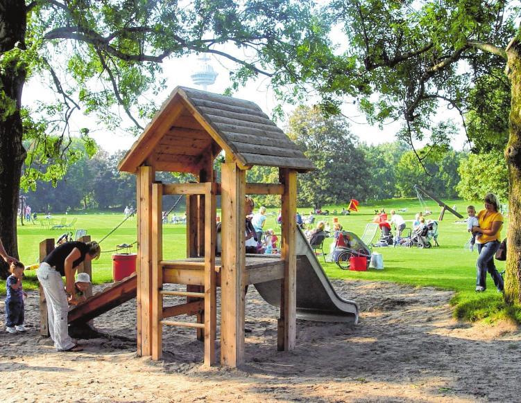 Die zahlreichen Spielplätze im Luisenpark bieten Action pur für alle Kinder. Bilder (3): Stadtpark Mannheim