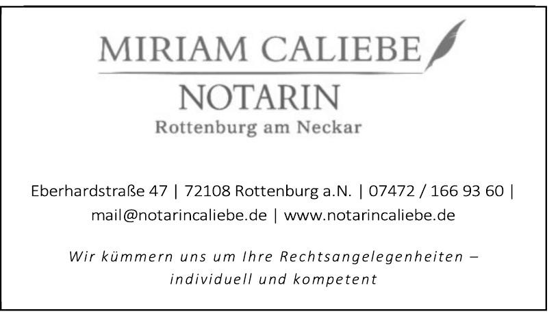Notarin Miriam Caliebe