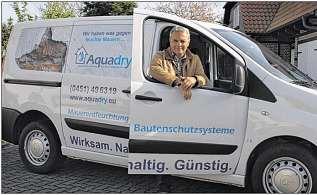 Der Mann, der feuchte Keller auf einfache und günstige Weise trockenlegt: Handwerksmeister Klaus Wist von Aquadry aus Stockelsdorf bei Lübeck