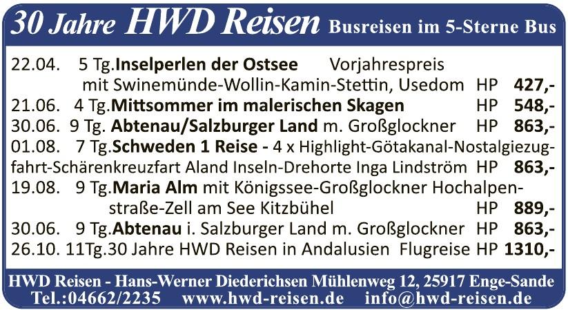 HWD Reisen-Hans-Werner Diederichsen