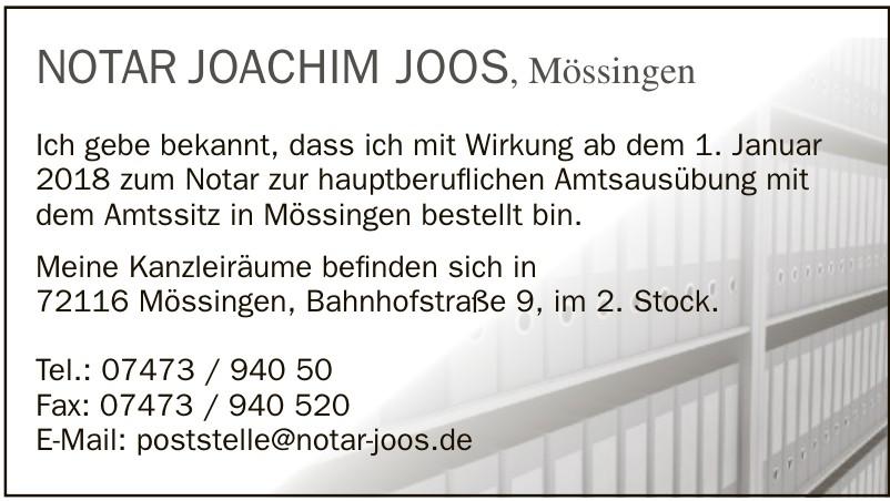 Notar Joachim Joos